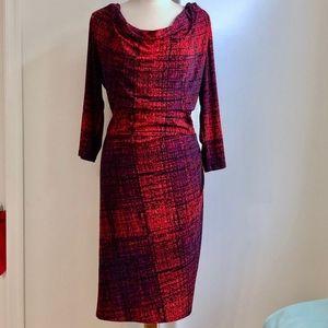 Anne Klein Red/Purple Office/Cocktail Dress 18W
